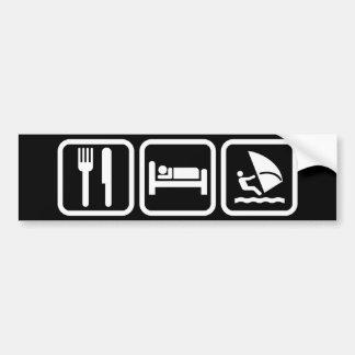Mangez la planche à voile de sommeil autocollant pour voiture