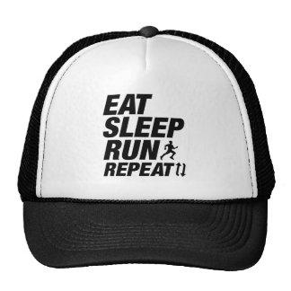 Mangez la répétition de course de sommeil casquette trucker