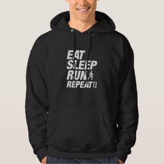 Mangez la répétition de course de sommeil veste à capuche