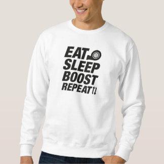 Mangez la répétition de poussée de sommeil sweatshirt