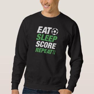 Mangez la répétition de score de sommeil sweatshirt