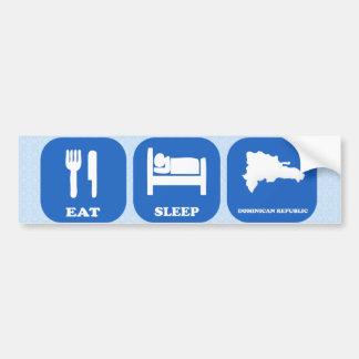 Mangez la République Dominicaine de sommeil Autocollant Pour Voiture