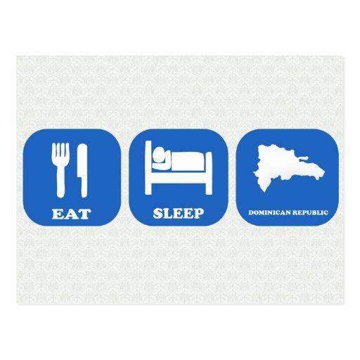 Mangez la République Dominicaine de sommeil Cartes Postales