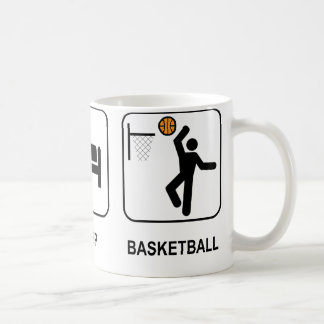 Mangez la tasse de basket-ball de sommeil
