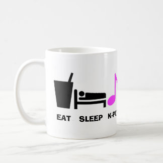 Mangez la tasse de Kpop de sommeil