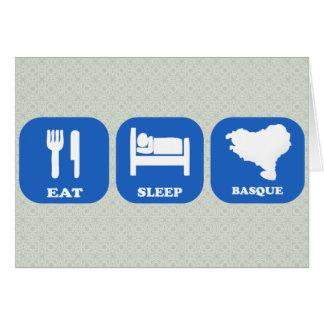 Mangez le Basque de sommeil Carte De Vœux