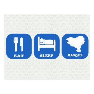 Mangez le Basque de sommeil Cartes Postales