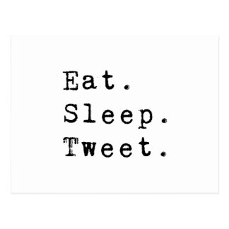 Mangez le bip de sommeil carte postale