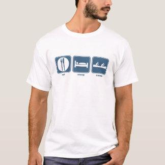 mangez le canoë de sommeil t-shirt
