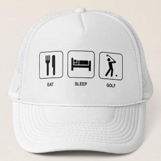 Mangez le casquette de golf de sommeil