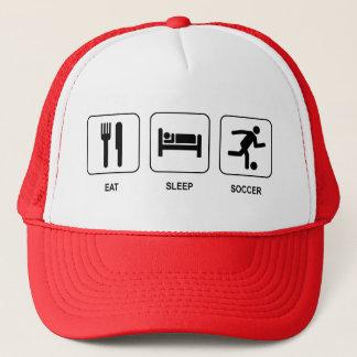 Mangez le casquette du football de sommeil