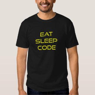 Mangez le code de sommeil t-shirt