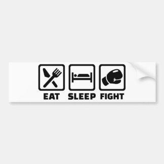Mangez le combat de sommeil autocollant pour voiture