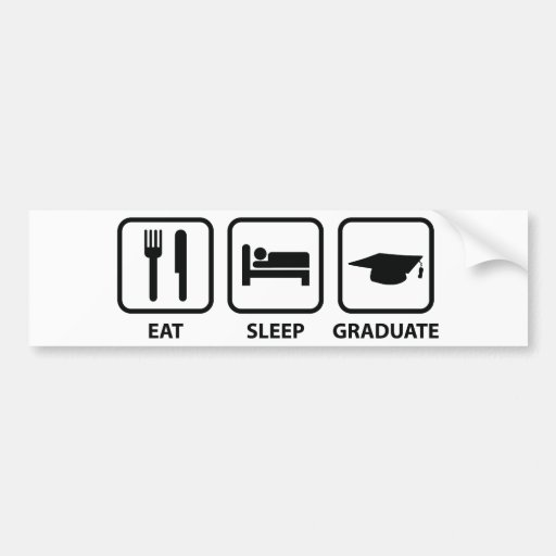 Mangez le diplômé de sommeil adhésifs pour voiture