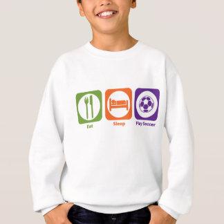 Mangez le football de jeu de sommeil sweatshirt