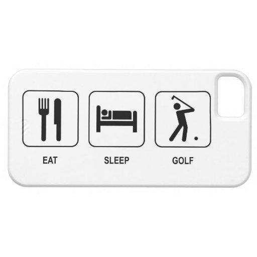 Mangez le golf de sommeil iPhone 5 case