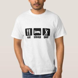 Mangez le golf de sommeil - noir t-shirts