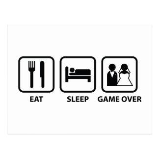 Mangez le jeu de sommeil plus de carte postale