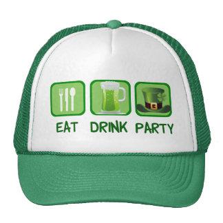 Mangez le jour de St Patrick drôle de partie de Casquette De Camionneur