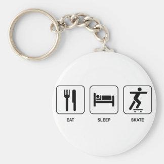 Mangez le patin de sommeil porte-clé rond