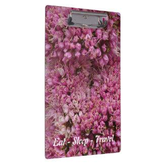Mangez le porte - bloc floral de rose de voyage de porte-bloc
