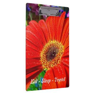 Mangez le porte - bloc floral rouge de voyage de porte-bloc
