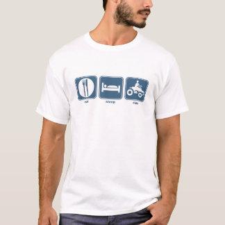mangez le quadruple de sommeil t-shirt