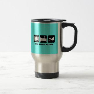 mangez le scaphandre de sommeil mug de voyage