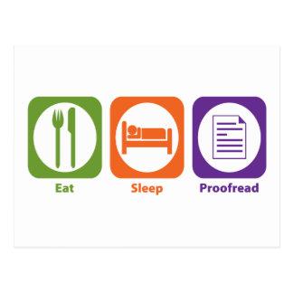 Mangez le sommeil corrigé sur épreuves carte postale
