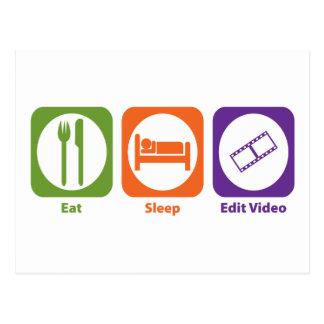 Mangez le sommeil éditent la vidéo cartes postales