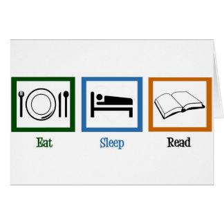 Mangez le sommeil lu carte de vœux