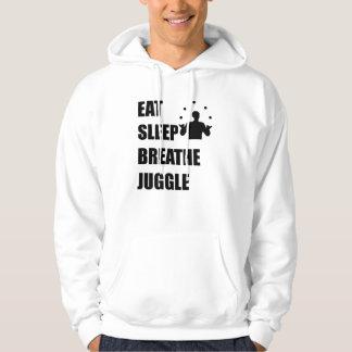 Mangez le sommeil respirent jonglent veste à capuche