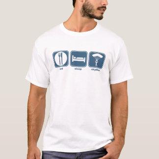 mangez le sommeil skydive t-shirt
