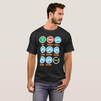 Mangez le T-shirt de jeu de sommeil - cadeau idéal