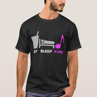 Mangez le T-shirt de Kpop de sommeil (foncé)