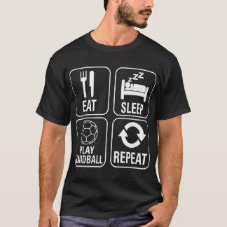 Mangez le T-shirt de mode de vie de répétition de