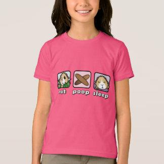 Mangez le T-shirt des enfants de cobaye de sommeil