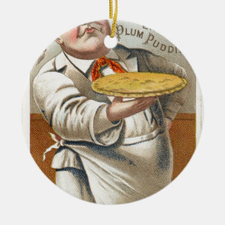 Mangez le tarte ornement rond en céramique