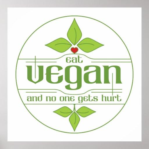 Mangez le végétalien et personne obtient le mal affiche