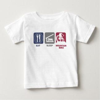 Mangez le vélo de montagne de sommeil t-shirt pour bébé