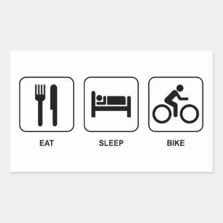 Mangez le vélo de sommeil sticker rectangulaire