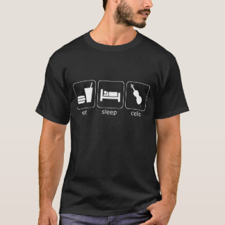 mangez le violoncelle de sommeil - obscurité t-shirt