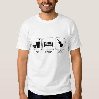 mangez le violoncelle de sommeil t-shirt