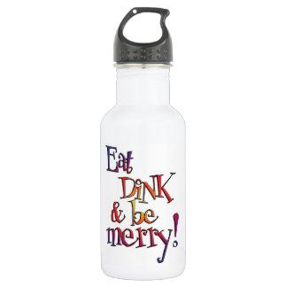 Mangez les bouteilles d'eau de Dink
