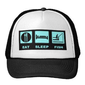 Mangez les cadeaux de pêche de poissons de sommeil casquette trucker