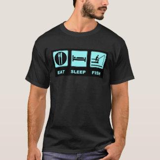 Mangez les cadeaux de pêche de poissons de sommeil t-shirt