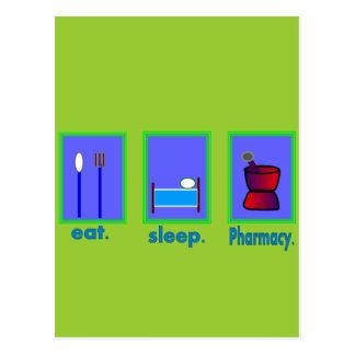 Mangez les cadeaux de pharmacien de pharmacie de carte postale