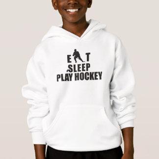 Mangez les enfants d'hockey de jeu de sommeil