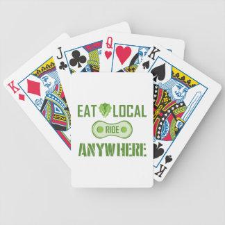 Mangez les gens du pays, tour n'importe où jeu de cartes