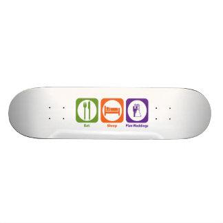 Mangez les mariages de plan de sommeil skateboards personnalisables